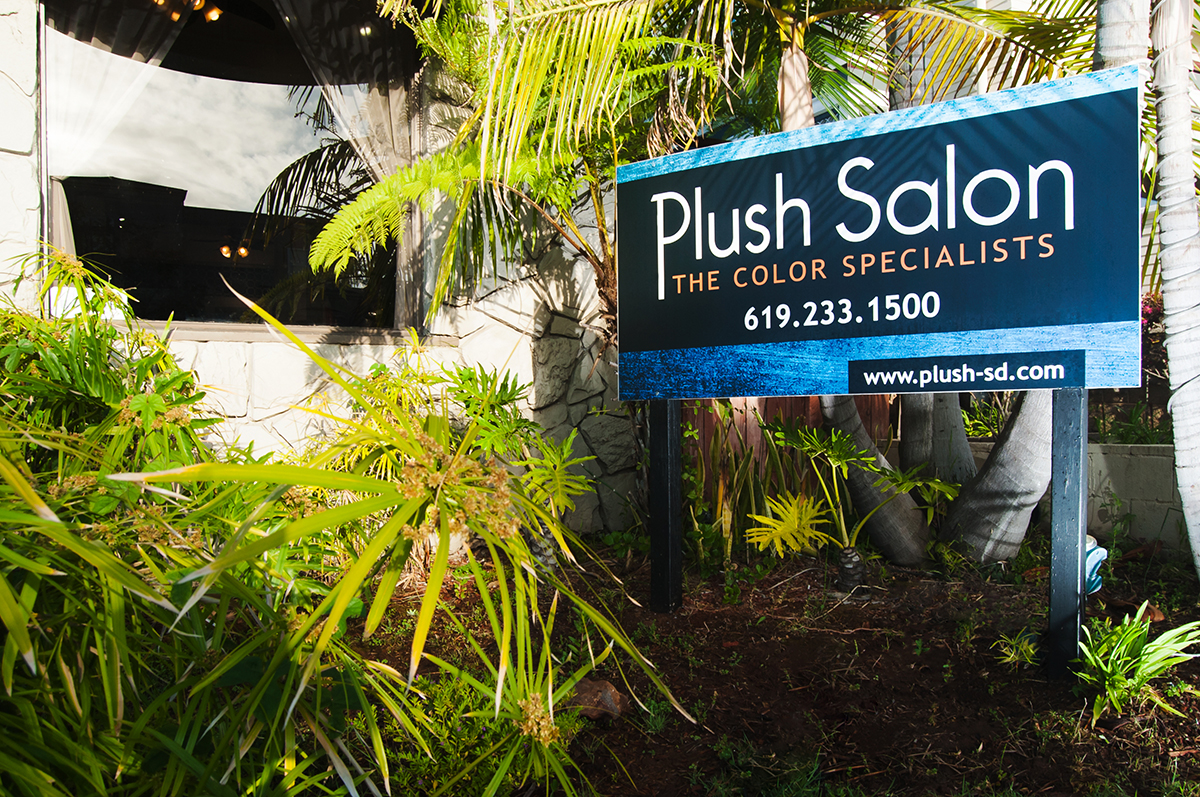 Plush Salon Sign