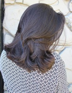 brown layered haircut
