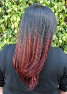 black and red ombre