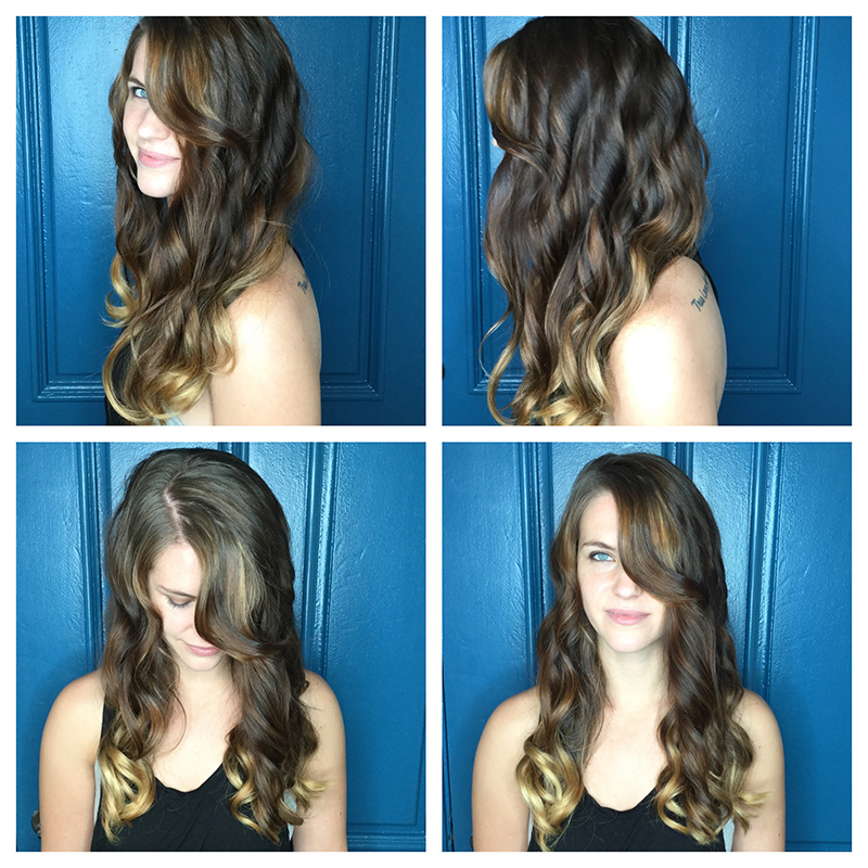 partial highlights blonde ombre