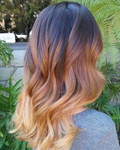 brunette to blonde warm ombre