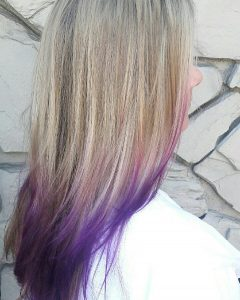 blonde and purple ombre