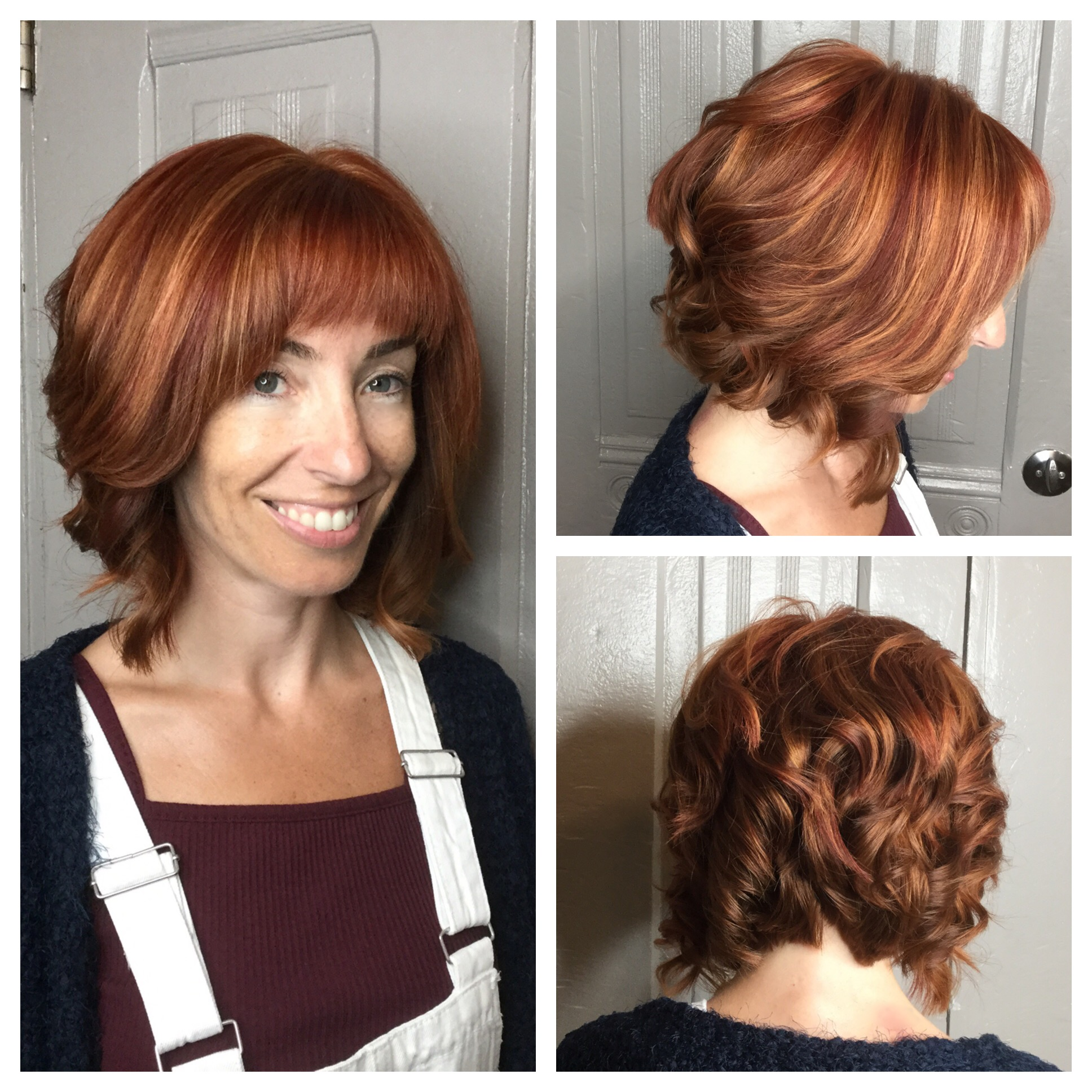 highlights for short red hair