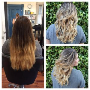 ombre correction by specialist