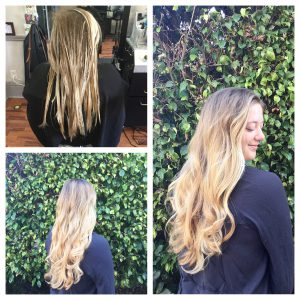 blonde ombre for long wavy hair