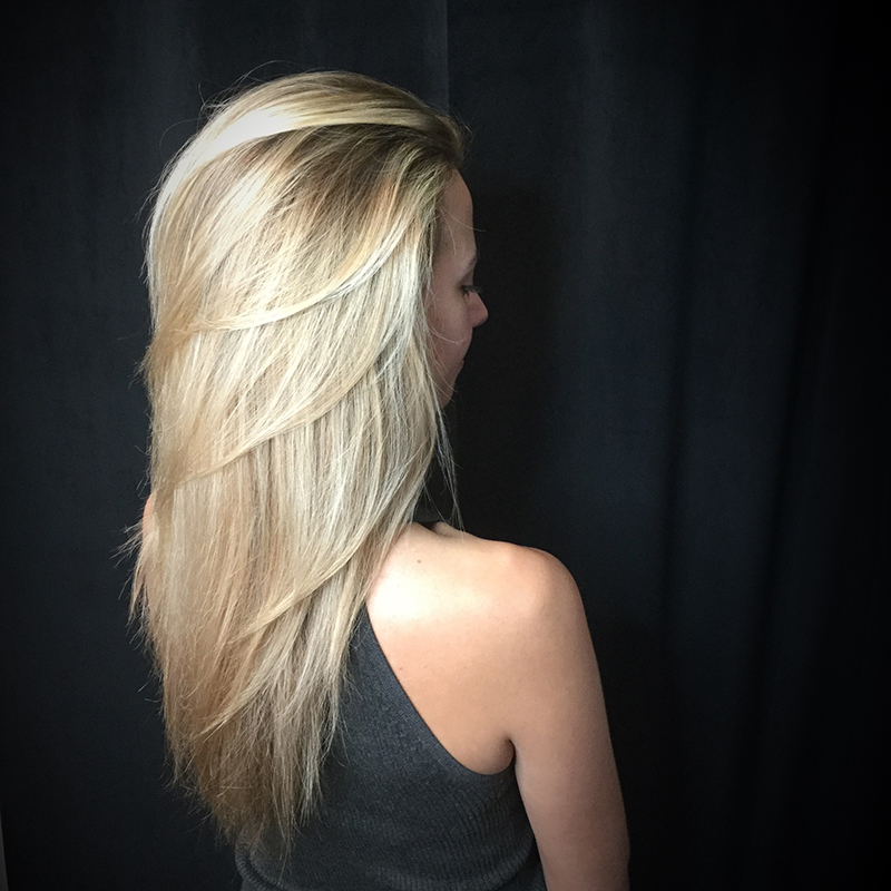 blonde haircolor with layers
