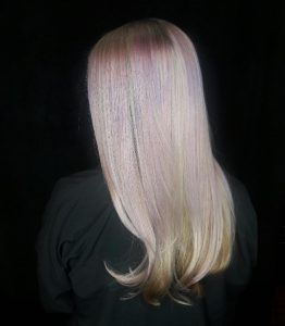 purple and blonde sombre