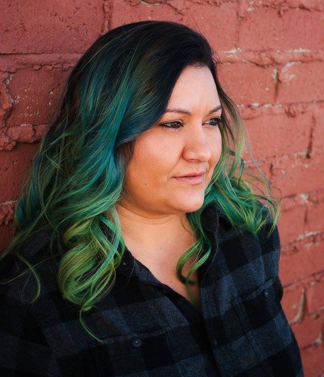 black and green ombre